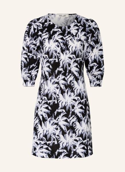 DIANE VON FURSTENBERG Kleid NOELLE mit 3/4-Arm, Farbe: WEISS/ SCHWARZ/ BLAU (Bild 1)