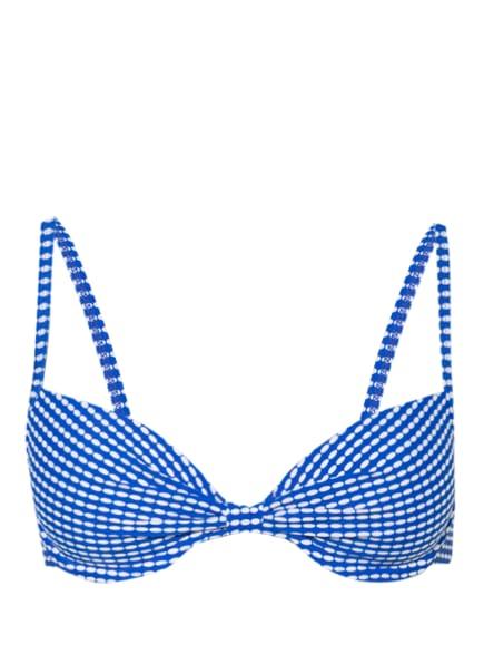 Hot Stuff Bügel-Bikini-Top MINIMAL, Farbe: BLAU/ WEISS (Bild 1)