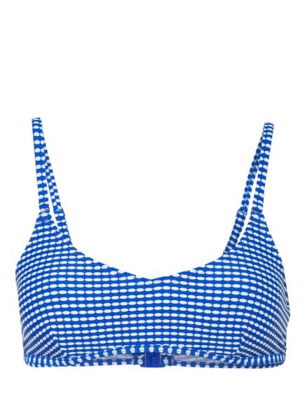 Hot Stuff Bustier-Bikini-Top MINIMAL, Farbe: BLAU/ WEISS (Bild 1)