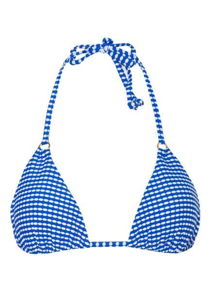 Hot Stuff Triangel-Bikini-Top MINIMAL, Farbe: BLAU/ WEISS (Bild 1)