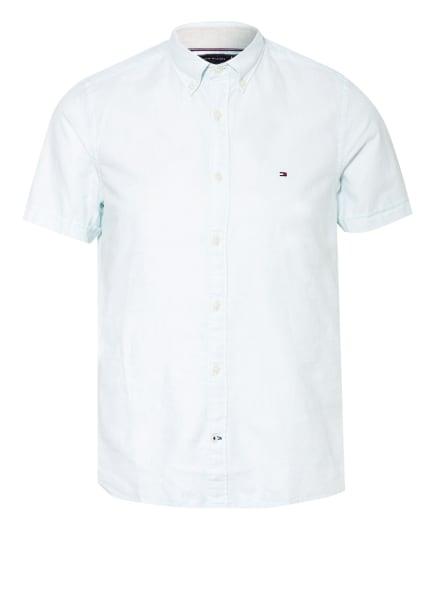 TOMMY HILFIGER Kurzarm-Hemd Slim Fit mit Leinen, Farbe: MINT (Bild 1)