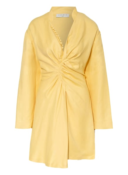 SANDRO Kleid mit Leinen, Farbe: HELLGELB (Bild 1)
