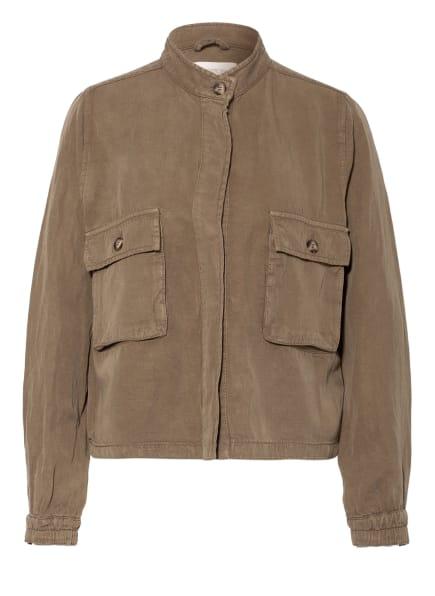 CARTOON Jacke mit Leinen, Farbe: OLIV (Bild 1)