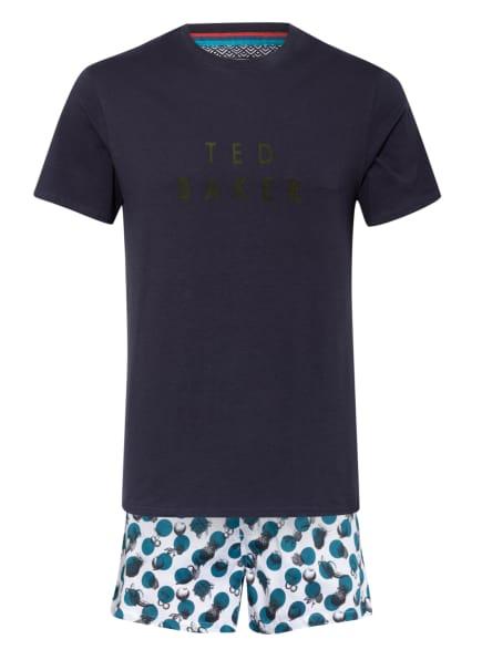 TED BAKER Shorty-Schlafanzug AAREN mit Geschenkbox, Farbe: DUNKELBLAU/ PETROL/ WEISS (Bild 1)