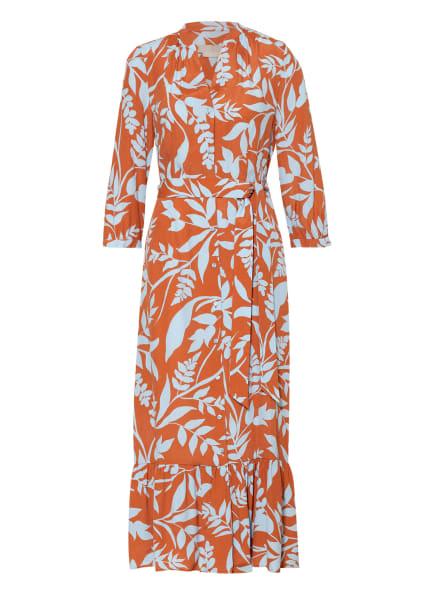 HOBBS Kleid MAGDA mit 3/4-Arm, Farbe: COGNAC/ HELLBLAU (Bild 1)
