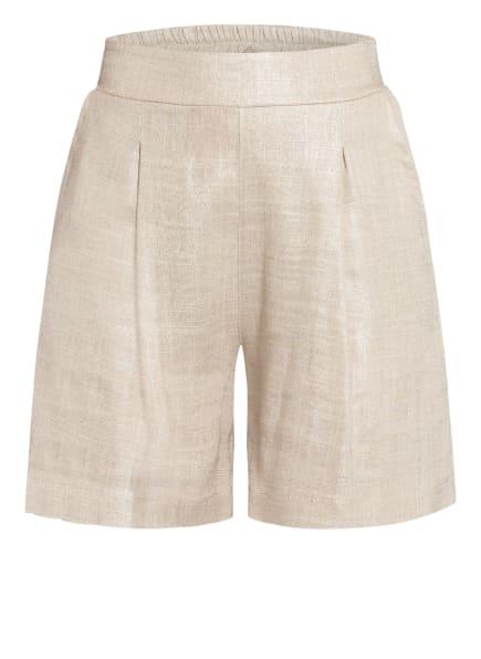RINASCIMENTO Shorts mit Leinen , Farbe: BEIGE/ SILBER (Bild 1)