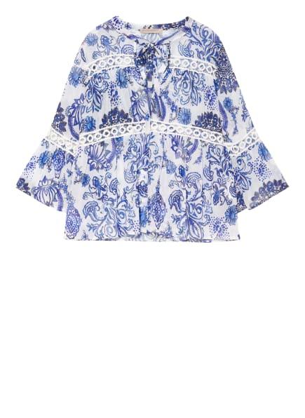 RINASCIMENTO Blusenshirt mit Schluppe, Farbe: BLAU/ WEISS (Bild 1)
