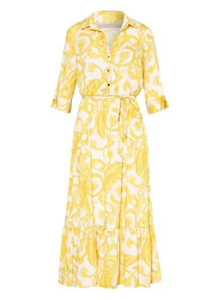 RINASCIMENTO Kleid mit 3/4-Arm, Farbe: DUNKELGELB/ GELB/ ECRU (Bild 1)
