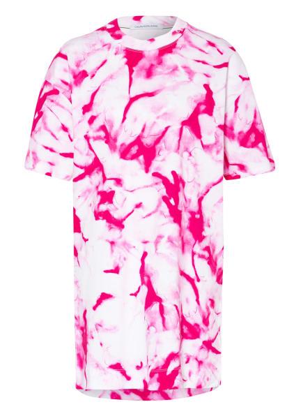 Calvin Klein Jeans Jerseykleid , Farbe: WEISS/ PINK (Bild 1)