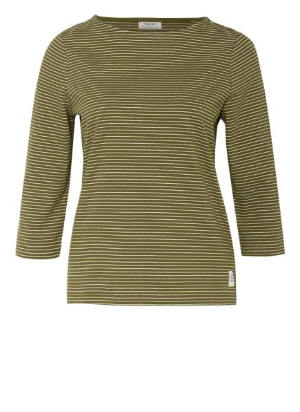 Marc O'Polo DENIM Shirt mit 3/4-Arm , Farbe: OLIV/ WEISS (Bild 1)