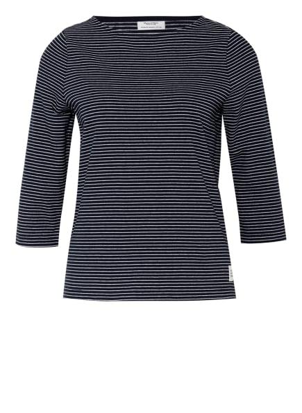 Marc O'Polo DENIM Shirt mit 3/4-Arm , Farbe: DUNKELBLAU/ WEISS (Bild 1)