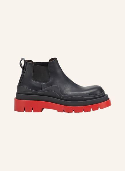 BOTTEGA VENETA Chelsea-Boots THE TIRE, Farbe: BLACK BRIGHT RED (Bild 1)