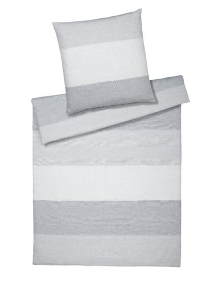 elegante Bettwäsche SENSE, Farbe: WEISS/ GRAU (Bild 1)