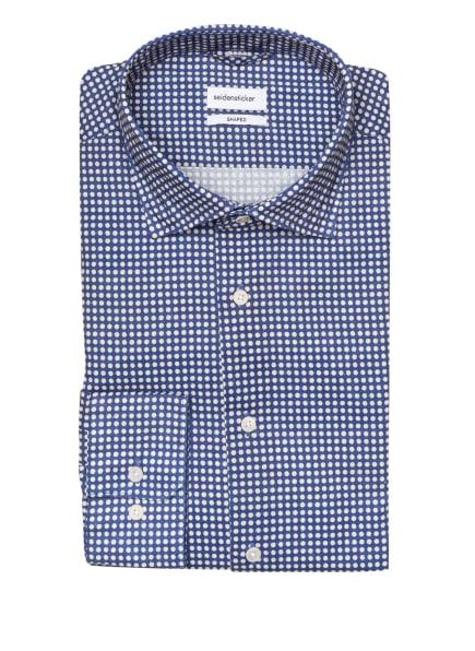 seidensticker Hemd Shaped Fit mit Leinen, Farbe: BEIGE/ BLAU (Bild 1)
