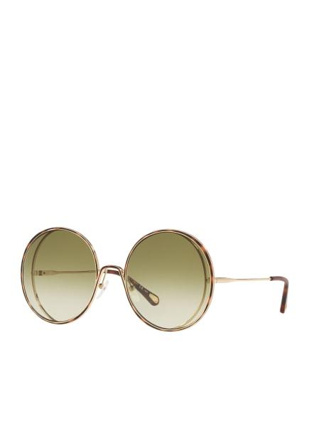 Chloé Sunglasses Sonnenbrille CH 0037S, Farbe: 2343J3 - GOLD/ GRÜN VERLAUF (Bild 1)