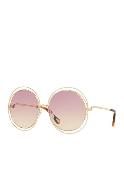 Chloé Sunglasses Sonnenbrille CH 0045S, Farbe: 2370R2 - GOLD/ PINK/ GELB VERLAUF (Bild 1)