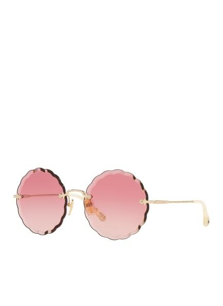 Chloé Sunglasses Sonnenbrille CH 0047S, Farbe: 2370R2 - ROSA/ GOLD/ PINK VERLAUF (Bild 1)