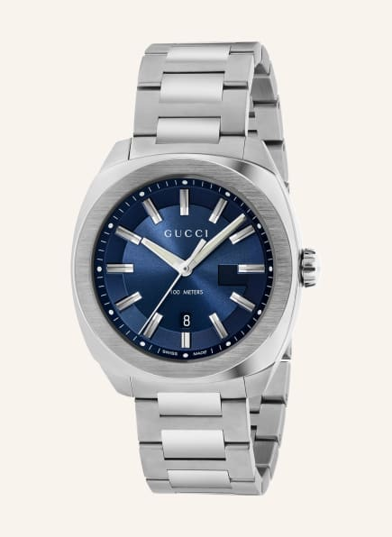 GUCCI Armbanduhr GG2570, Farbe: SILBER/ BLAU (Bild 1)