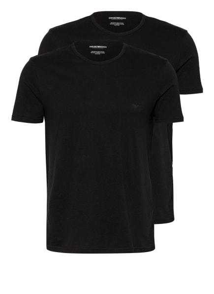 EMPORIO ARMANI 2er-Pack T-Shirts, Farbe: SCHWARZ (Bild 1)