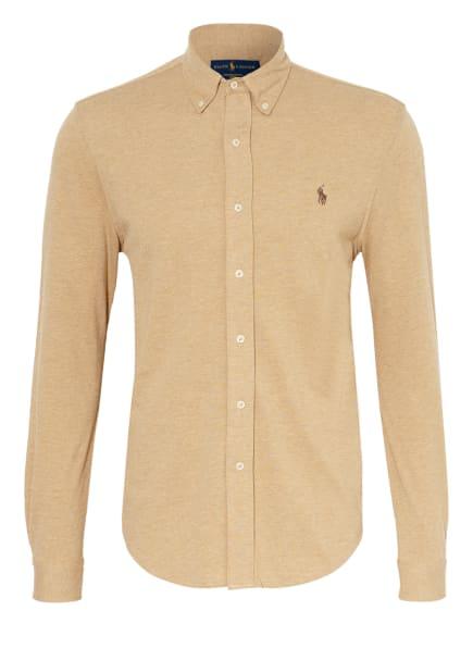 POLO RALPH LAUREN Jerseyhemd Custom Fit, Farbe: BEIGE (Bild 1)