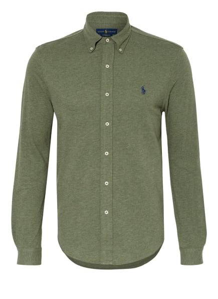 POLO RALPH LAUREN Jerseyhemd Custom Fit, Farbe: OLIV (Bild 1)