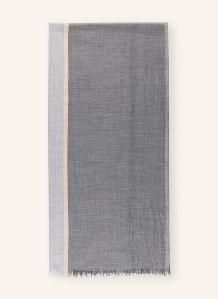 BRUNELLO CUCINELLI Cashmere-Schal, Farbe: GRAU/ CREME (Bild 1)