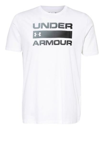 UNDER ARMOUR T-Shirt UA TEAM ISSUE WORDMARK, Farbe: WEISS (Bild 1)