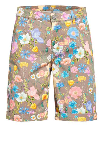 MAC Shorts SHORTY, Farbe: BRAUN/ HELLBLAU/ GELB (Bild 1)
