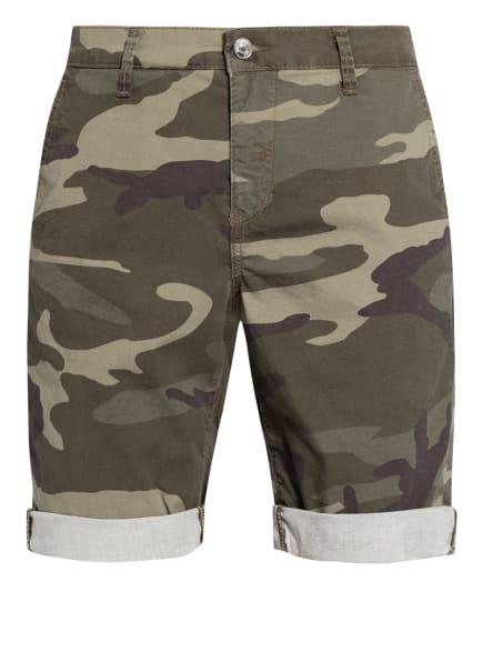 MAC Chino-Shorts, Farbe: DUNKELGRÜN/ HELLGRÜN/ DUNKELBRAUN (Bild 1)