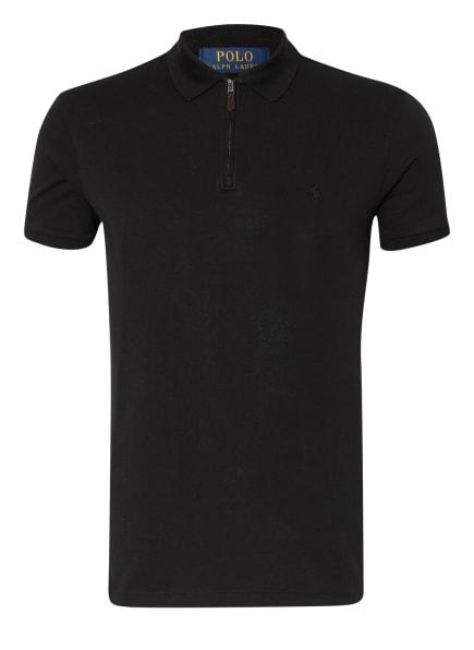 POLO RALPH LAUREN  Piqué-Poloshirt Slim Fit, Farbe: SCHWARZ (Bild 1)