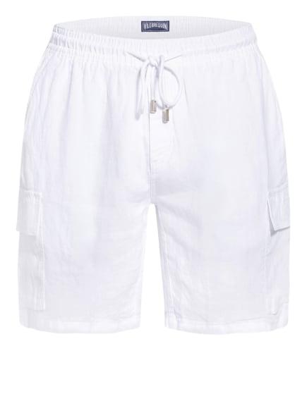 VILEBREQUIN Cargo-Shorts BAIE aus Leinen, Farbe: WEISS (Bild 1)