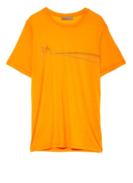 icebreaker T-Shirt TECH LITE aus Merinowolle, Farbe: ORANGE (Bild 1)