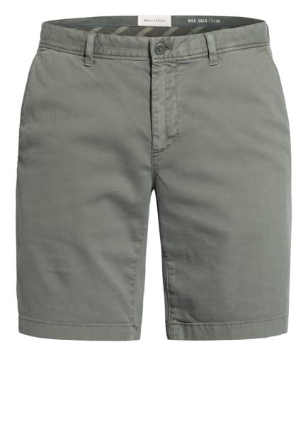 Marc O'Polo Chino-Shorts Slim Fit, Farbe: GRÜN (Bild 1)