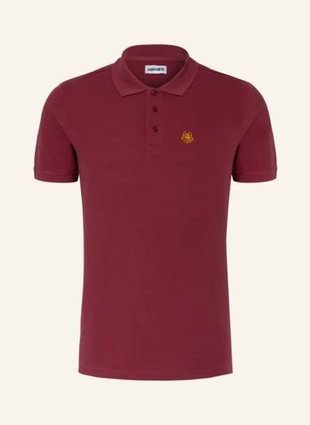 KENZO Piqué-Poloshirt TIGER CREST, Farbe: DUNKELROT (Bild 1)
