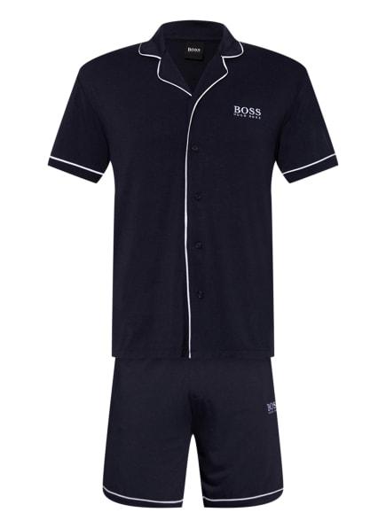 BOSS Shorty-Schlafanzug mit Geschenkbox , Farbe: DUNKELBLAU/ WEISS (Bild 1)