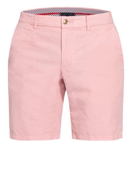 TOMMY HILFIGER Chino-Shorts BROOKLYN mit Leinen, Farbe: ROSA (Bild 1)