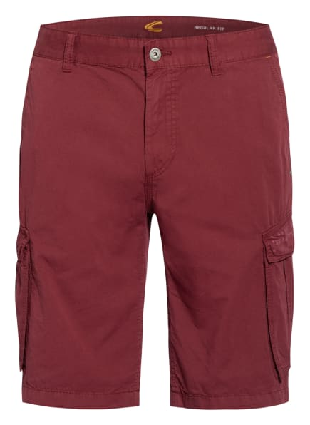 camel active Cargo-Shorts HOUSTON Regular Fit, Farbe: DUNKELROT (Bild 1)