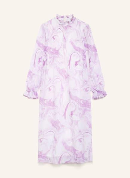 GANNI Plisseekleid , Farbe: WEISS/ HELLLILA (Bild 1)