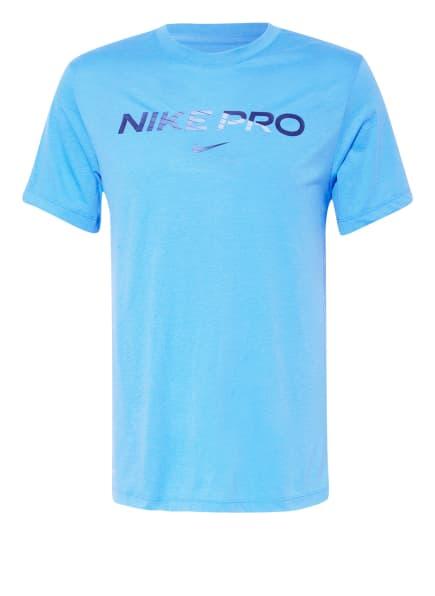 Nike T-Shirt PRO, Farbe: HELLBLAU (Bild 1)