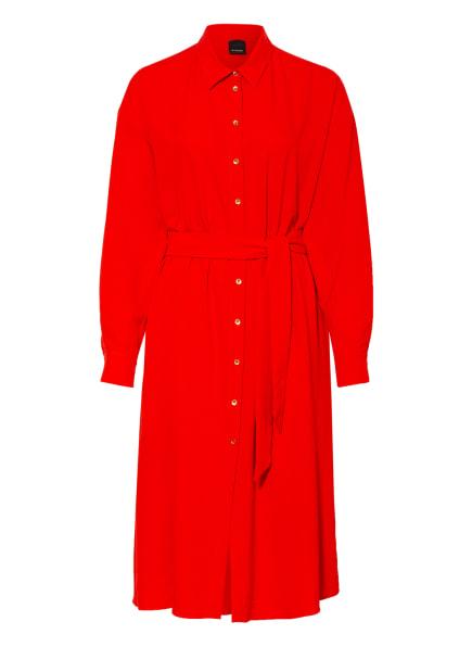 PINKO Hemdblusenkleid MANIEROSO, Farbe: ROSÉ/ ROT (Bild 1)