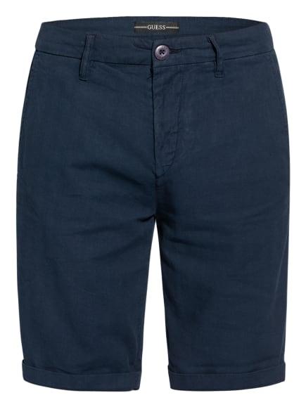 GUESS Shorts MYRON mit Leinen, Farbe: DUNKELBLAU (Bild 1)