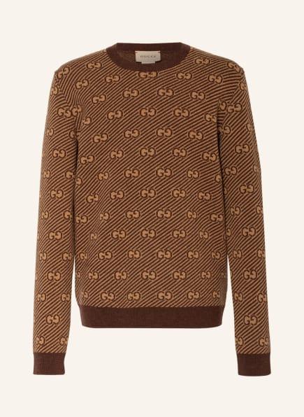 GUCCI Pullover, Farbe: CAMEL/ BRAUN (Bild 1)