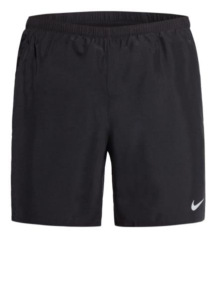 Nike Laufshorts CHALLENGER mit Mesh-Einsätzen, Farbe: SCHWARZ (Bild 1)