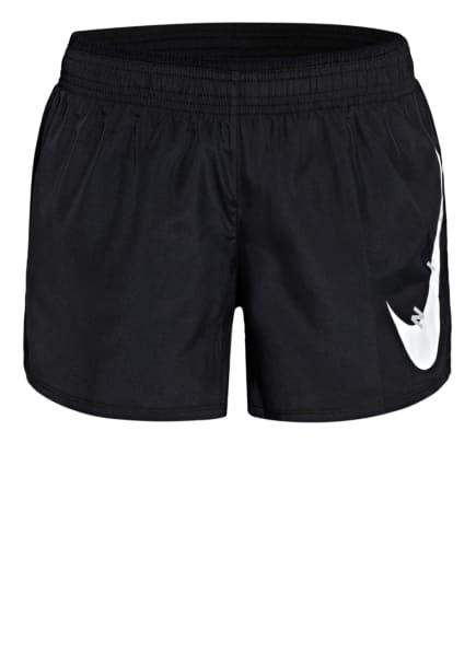Nike 2-in-1 Laufshorts SWOOSH RUN, Farbe: SCHWARZ/ WEISS (Bild 1)