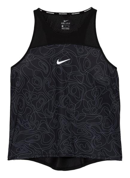 Nike Tanktop MILER RUN DIVISION mit Mesh-Einsatz, Farbe: SCHWARZ (Bild 1)