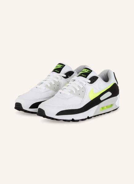 Nike Sneaker AIR MAX 90, Farbe: WEISS/ SCHWARZ/ NEONGELB (Bild 1)