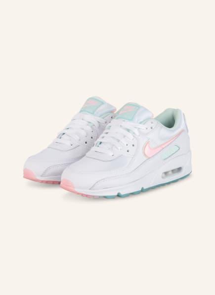 Nike Sneaker AIR MAX 90, Farbe: WEISS/ HELLROSA/ MINT (Bild 1)