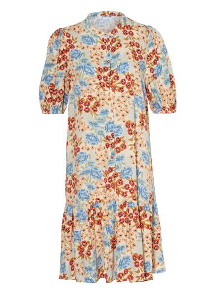 MOSS COPENHAGEN Kleid ASHLYN, Farbe: ECRU/ HELLBLAU/ DUNKELORANGE (Bild 1)