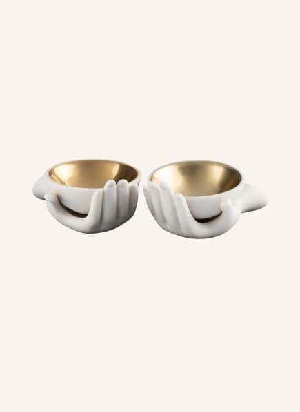 JONATHAN ADLER Salz- und Pfefferschalen EVE, Farbe: WEISS/ GOLD (Bild 1)