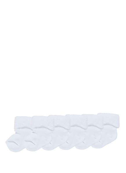 ewers COLLECTION 6er-Pack Socken, Farbe: 901 901 weiß (Bild 1)